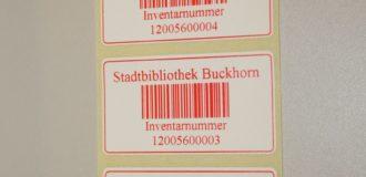 Inventar-Etikett