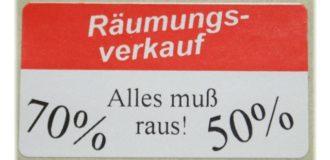 Werbe-Etikett